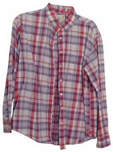 American Eagle Outfitters Button Down Shirt Purple