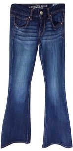 American Eagle Outfitters Flare Leg Jeans-Dark Rinse