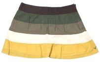 American Eagle Outfitters Mini Skirt Yellow. Green, White, Brown (Multi)