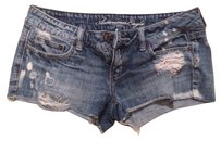 American Eagle Outfitters Mini/Short Shorts Distressed Denim