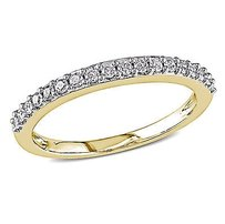 Amour 10k Yellow Gold 14 Ct Tdw Diamond Anniversary Ring H-i I2-i3