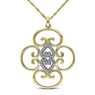 Amour 14k White And Yellow Gold 15 Ct Tdw Diamond Pendant Necklace G-h Si1-si2 17