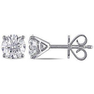 Amour Amour 14k White Gold 1 15 Ct Tdw Diamond Stud Earrings G-h Si1