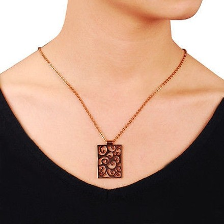 Amour Amour Stainless Steel With Bronze Finishing Pendant Necklace - 20