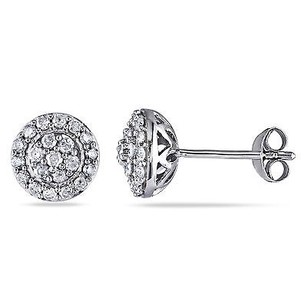 Amour Amour Sterling Silver 12 Ct Tdw Diamond Stud Earrings H-i I2-i3