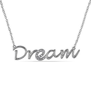 Amour Amour Sterling Silver Diamond Accent Dream Pendant Necklace 18