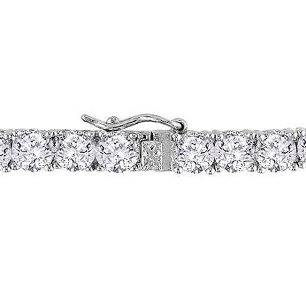 Amour Sterling Silver Cubic Zirconia Tennis Bracelet 7.25 18.9 Ct