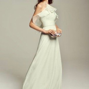 Amsale Amsale Ruffles Halter Bridesmaids Gown Dress