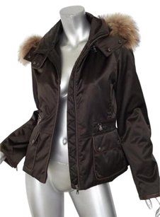 Andrew Marc Womens Dark Brown Jacket