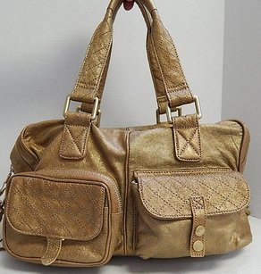 Andrew Marc Distressed Satchel in Copper