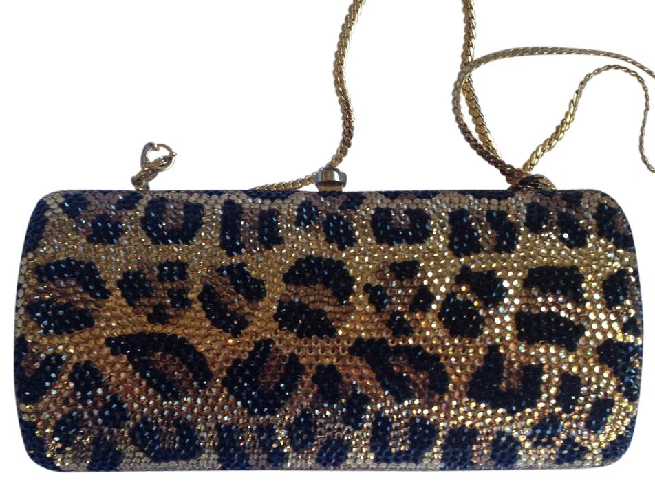 Animal print evening clutch