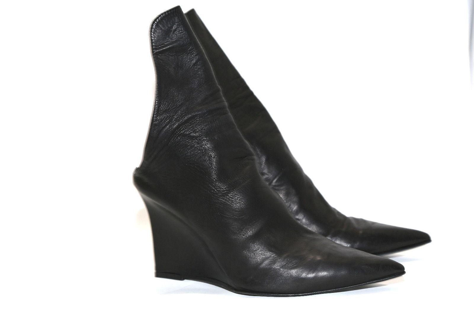 Ann Demeulemeester Black Wedge Boots sale visit official site cheap online shmWO6