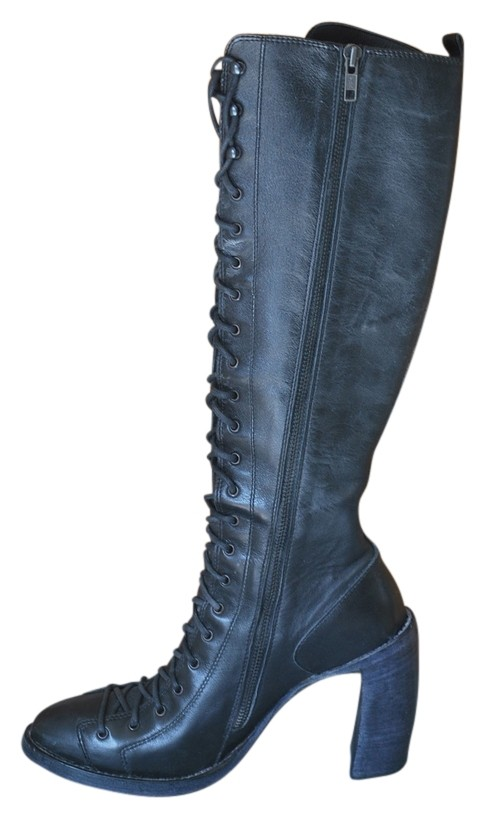 Ann Demeulemeester Combat Washed Leather Boots/Booties Size US 7.5