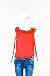 Ann Demeulemeester Crepe Top Red