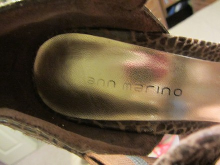 Ann Marino Great Look Nice Heal Brown Pumps