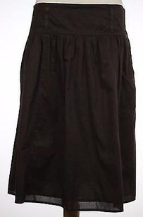 Ann Taylor Womens Solid Skirt Brown