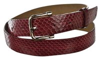 Ann Taylor Ann Taylor Womens Red Width Belt Textured Leather