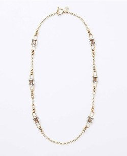 Ann Taylor Ann Taylor Square And Marquis Crystal Necklace