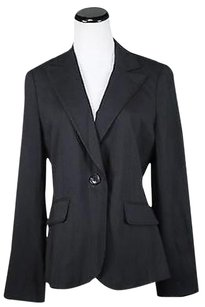 Ann Taylor Ann Taylor Womens Black Striped Blazer Wool Basic Jacket Career