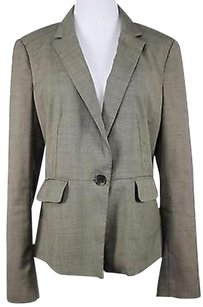 Ann Taylor Ann Taylor Womens Brown Blazer Long Sleeve Basic Jacket Polyester