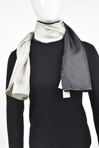Ann Taylor Ann Taylor Womens Gray Scarf One Color Block Casual Silk