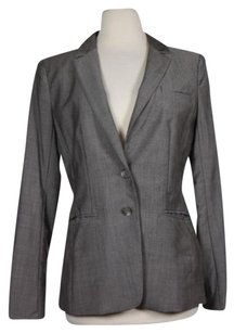 Ann Taylor Womens Solid Gray Jacket