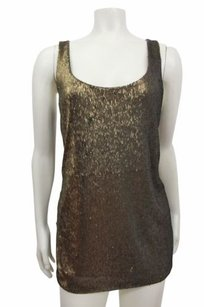 Ann Taylor Sequin Top olive gold