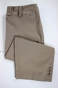 Ann Taylor Womens Solid Capri/Cropped Pants Brown