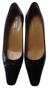 Ann Taylor Square Toe Black Pumps