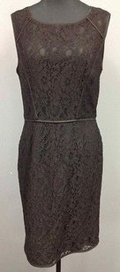 Ann Taylor Nylon Blend Lined Lace Overlay Sheath Sma 867 Dress