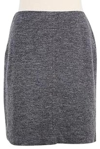 Ann Taylor Womens Solid Skirt Gray