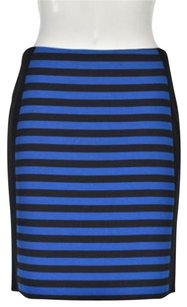 Ann Taylor Womens Striped Straight Above Knee Casual Skirt Black