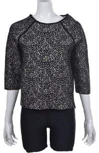 Ann Taylor Womens Beige Top Black
