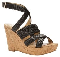Ann Taylor Wedge Sandal Braided Wedge Black Wedges