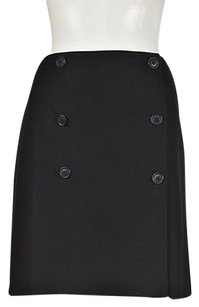 Ann Taylor Womens Wrap Textured Above Knee Wool Casual Skirt Black
