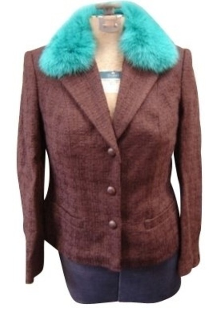 Preload https://item4.tradesy.com/images/anna-molinari-brown-waffel-with-teal-fur-collar-blazer-size-6-s-95023-0-0.jpg?width=400&height=650