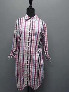 Anne Fontaine short dress Purple Pink White Button Down Plaid Shirt 2243a on Tradesy