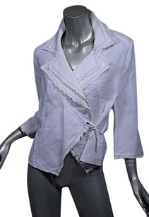 Anne Fontaine Wrap Shirt Jacket Linen Cardigan