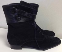Anne Klein Suede Lace Black Boots