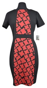 Anne Klein 22 44 Red Color Short Sleeve Sheath Size Dress