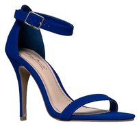 Anne Michelle Ankle-strap Blue Sandals