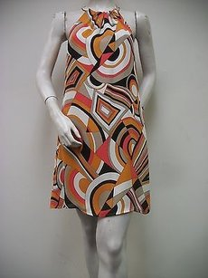 Anni Kuan short dress Multi-Color High Neck Style A18p 100 Silk Usa on Tradesy