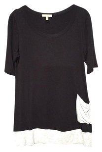 Anthropologie T Shirt Black Grey