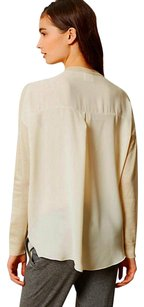 Anthropologie Chiffon Back Boxy Comfy Pullover Top Ivory