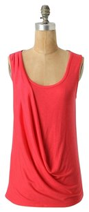 Anthropologie Drapey Spring Summer Bright Top Coral