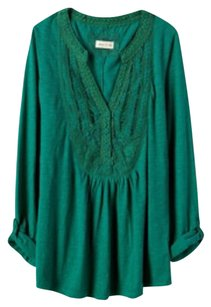 Anthropologie Emerald Meadow Rue Top Green