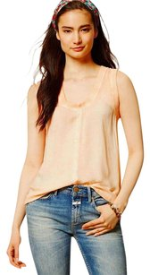 Anthropologie Faded Dye Affect Top Orange