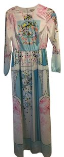 Pink Blue Yellow Maxi Dress by Anthropologie