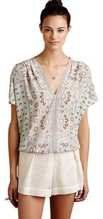 Anthropologie Prato Caftan Top ivory