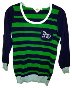 Anthropologie Preppy Playful Letter A Sweater